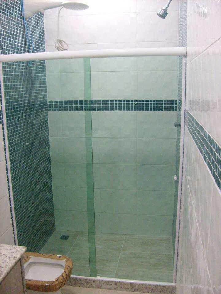 box de vidro verde de 8 mm