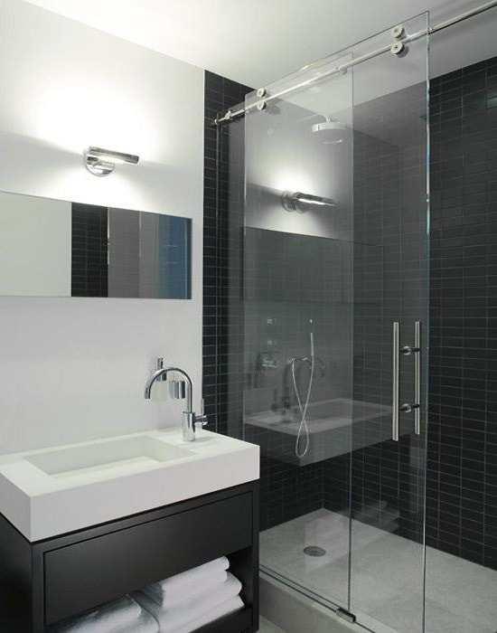 box para banheiro com roldanas aparentes Vidro temperado de 8 mm várias cores e modelos com perfil de acabamento reforçado e garantia total de qualidade.