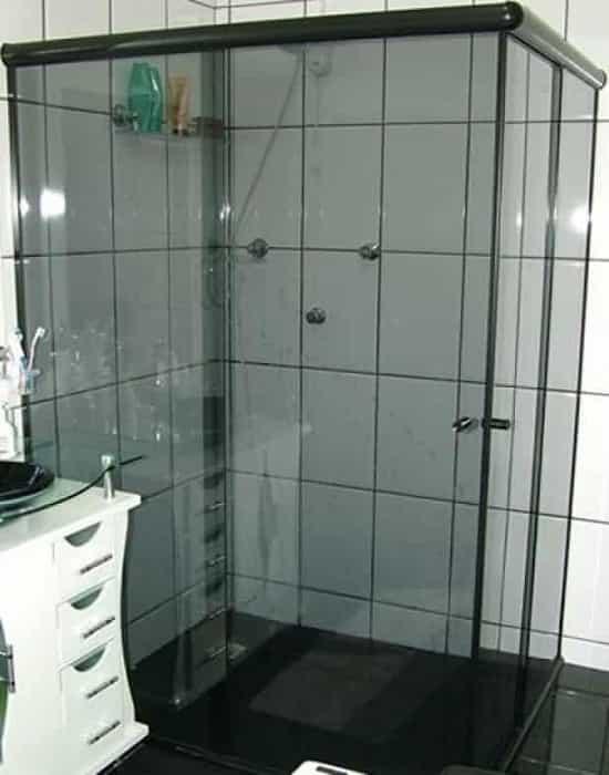 BOX PARA BANHEIRO PREÇO (11) 37146360 (11) 37180254 -> Pia De Banheiro De Vidro Fume