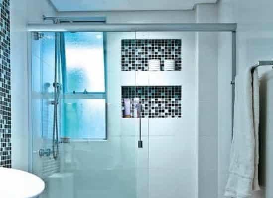 box para banheiro modelo frontal incolor para banheiro vidro de segurança com qualidade total