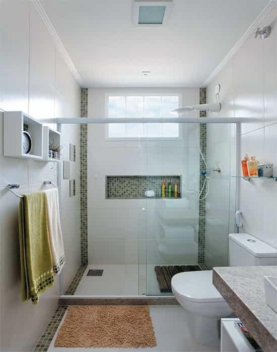 box para banheiro frontal incolor com altura padrão de 190 e larguras variadas perfil de acabamento em alumínio branco a pronta entrega