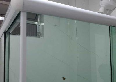 Box em ângulo de canto vidro vidro incolor 8 mm,
