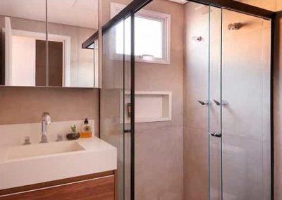 Box para banheiro zona sul perfil quadrado bronze