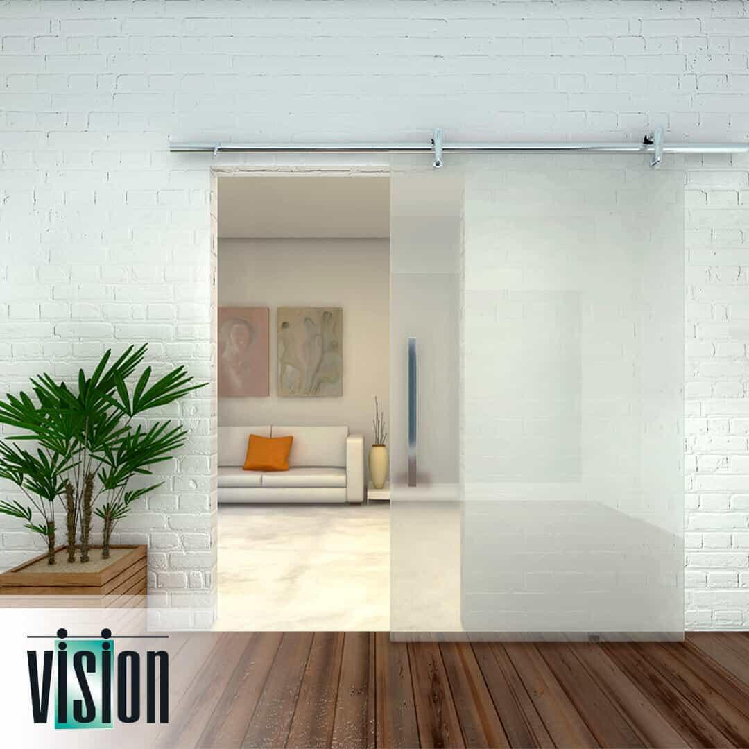 Kit vision para porta com roldanas aparentes