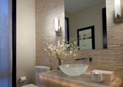 Espelho de banheiro cristal 4 mm, com LED.